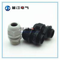 蓝江品牌NPT1/2美制电缆塑料固定头 电缆格兰头 锥螺纹防水接头ip68