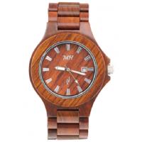 圆形实木红木手表