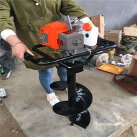 钓鱼爱好者冰面的钻眼机 植保机设备专供