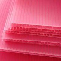 pp塑料瓦楞中空板定制 彩色印刷万通广告板 防静电防阻燃中空板材
