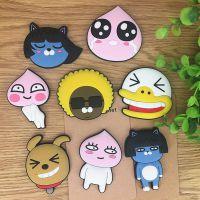 韩国卡通系列 卡考 小猫咪 屁桃君 鸭子造型PVC软胶冰箱贴装饰品