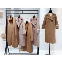 阿尔巴卡双面尼羊绒大衣品牌折扣女装 专柜正品一手货源批发