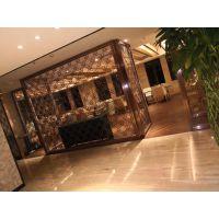 承接酒店装饰工程,304不锈钢玫瑰金屏风,佛山厂家直销包安装