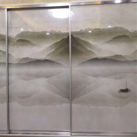 3D衣柜门万能彩绘机 橱柜门UV平板彩绘机