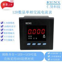 供应仁贤单相数显电流表 单相交流电流表 RX194I-2K1单相电能仪表