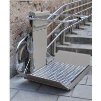 弯轨斜挂式轮椅升降平台