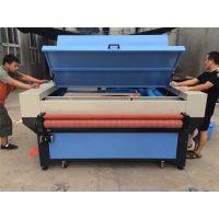 服装布料皮革卷料激光下料机 自动送料收料激光切割裁片机厂家
