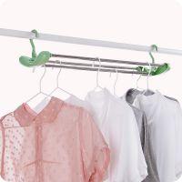 加长可伸缩晒床单衣架不锈钢晾衣架儿童浴巾衣服晾晒架晒被单挂架