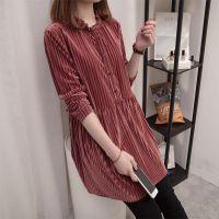 春秋特大码加肥女装韩版中长款长袖T恤裙200斤显瘦遮肉宽松打底衫