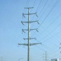 福州市益瑞钢杆厂家35kv双回路30度转角电力钢杆 单回路终端钢杆 输电钢杆 打桩施工 基业