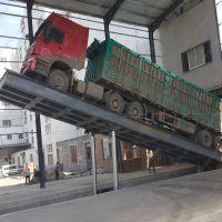 60吨液压翻板机厂家 大型自动卸车机平台 散装物料卸车设备
