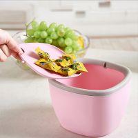 桌面迷你收纳桶  创意摇盖小型桌面塑料带盖收纳桶 杂物收纳盒