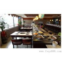 快餐火锅桌供应304不锈钢回转式火锅餐桌 转转麻辣烫餐桌