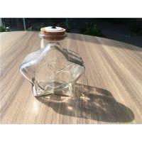DIY幸运五角星玻璃瓶木塞漂流瓶彩虹瓶星星瓶子许愿瓶创意星空瓶