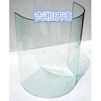 湖南弯钢玻璃 弯曲玻璃 弧形热弯钢化玻璃 电梯 楼梯弧形玻璃定制