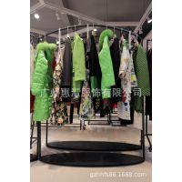 蜂后国际北京高档外单尾货批发市场在哪里折扣女装 品牌外贸尾货批发T恤红色连衣裙