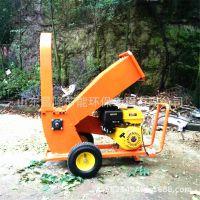供应葡萄树枝树叶粉碎机 移动式四冲程汽油动力碎枝机秸秆粉碎机