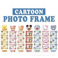 卡通KT猫哆啦A梦3联悬挂式相框儿童宝宝影楼幼儿园学校照片墙礼品