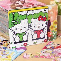 16片拼图3张装幼儿童拼图益智玩具纸质多功能填色图古诗4-5-6-8岁