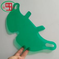 绿色聚碳酸酯pc板铣槽、雕刻、抛光、折弯等多种加工工艺