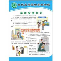 全民应急避险安全知识挂图 编号YU1750 规格50*70cm 数量4张/套