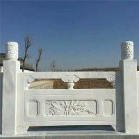 福建惠安石雕汉白玉栏板护栏大理石拱桥河道栏杆扶手园林雕刻