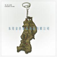 日本旅游赠品 复古地图钥匙扣 免税店卖品 日本东北地区钥匙扣