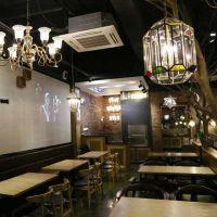 咖啡厅西餐厅桌椅组合简约现代餐饮饭店休闲实木餐桌椅