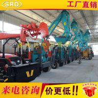 厂家直销 80轮式挖掘机式路灯杆挖坑机 挖掘机改装挖坑机赛瑞达