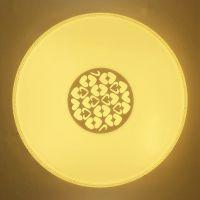 万星红LED吸顶灯SS003超薄现代圆形24+24w三色变光