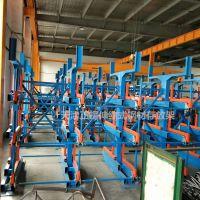 中山悬臂货架优点 伸缩式管材货架使用步骤 行吊吊钢材过程