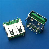 大电流USB母座 OPPO 9P母座 绿胶 5A快充 OPPO充电器输出 USB接口