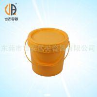 供应塑料涂料桶5L 化工包装塑料桶 5升容量塑料桶质量保证
