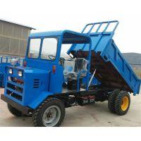优质工地转运拖拉机 双顶卸料方便四不像 道路基建运料四轮拖拉机