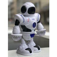 厂价批发2018新款跳舞机器人电动声光音效音乐婴幼儿防摔玩具
