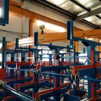 苏州昆山管材货架车间安装现场图片 先进的伸缩式结构