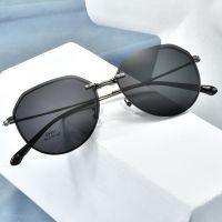 丹阳眼镜工厂批发男女式磁吸夹片偏光太阳镜架复古金属近视套镜