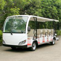 安步优品ABLQY230白色新款豪华23座景区电动观光车电瓶游览车电瓶摆渡车