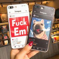 创意iPhone8手机壳 时尚浮雕卡片tpu软壳 oppoA3保护套  苹果外壳