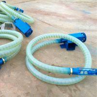 双驱动12长软管吸粮机 沙子装车吸粮机 混凝土软管绞龙上料机