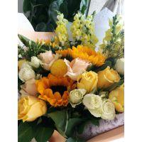 鲜花花束向日葵温暖系列