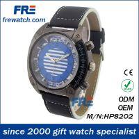 新款大气经典时尚黑色皮带男女手表 便宜男款手表 手表厂家定制