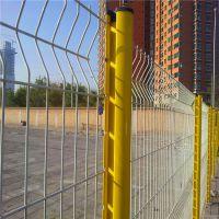学校隔离防护网 校区黄色绿色隔离网 福建铁丝焊接网墙厂家