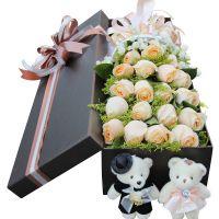 礼盒鲜花花束速递红玫瑰北京同城礼盒上海送花南京广州鲜花店杭州
