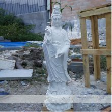 石雕观音佛像汉白玉滴水观音像摆件大理石南海观世音菩萨雕塑摆件曲阳万洋雕刻厂家现货加定做