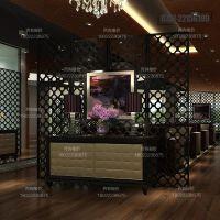 供应惠州铝方通 木纹复古装饰铝屏风窗花定制