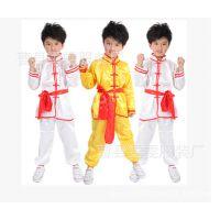 新款儿童男太极服武术演出服装舞蹈服练功服腰鼓表演服