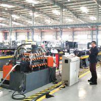 厂家供应PLC控制全自动冲孔U型槽机冲孔冷弯导轨机械