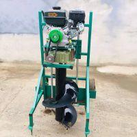广宗苗木种植打眼机 阳泉大棚立柱打桩机 启航拖拉机挖坑机型号