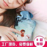 【厂家直销】SAFEBET小红帽卡通印花热水袋注水式热水袋暖宫宝